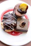 Chocoladedesserts Stock Afbeeldingen