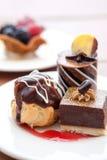 Chocoladedesserts Stock Fotografie