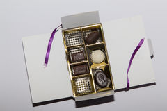 Chocoladedoos Royalty-vrije Stock Foto