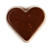 Chocoladehart Royalty-vrije Stock Foto