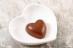Chocoladehart Stock Foto's