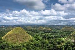 Chocoladeheuvels, Cebu, de Filippijnen stock afbeelding