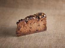 Chocoladekaastaart royalty-vrije stock afbeelding