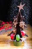 Chocoladekerstboom Royalty-vrije Stock Foto's