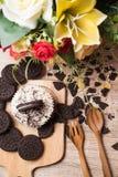 Chocoladekoekje en cupcake Stock Fotografie