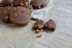 Chocoladekoekje met Cachou royalty-vrije stock foto's