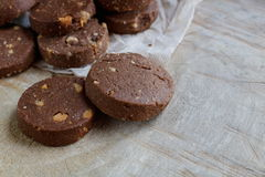 Chocoladekoekje met Cachou stock foto