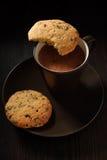 Chocoladekoekjes royalty-vrije stock fotografie