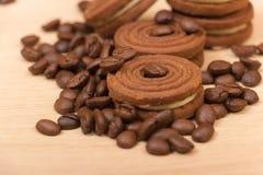 Chocoladekoekjes Stock Afbeeldingen