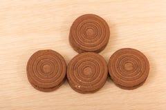 Chocoladekoekjes Royalty-vrije Stock Afbeeldingen