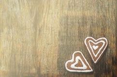 Chocoladekoekjes in de vorm van een hart Stock Fotografie