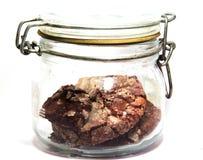 Chocoladekoekjes in glas op geïsoleerde achtergronden Royalty-vrije Stock Foto