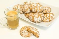 Chocoladekoekjes met koffie Royalty-vrije Stock Afbeeldingen