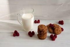 Chocoladekoekjes met melk royalty-vrije stock foto's