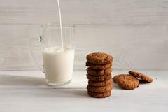 Chocoladekoekjes met melk royalty-vrije stock foto