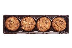 Chocoladekoekjes met noten Royalty-vrije Stock Foto