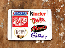 Chocolademerken en emblemen Stock Fotografie