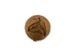 Chocolademuffin op de witte achtergrond Royalty-vrije Stock Afbeeldingen