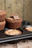 Chocolademuffins Stock Afbeelding