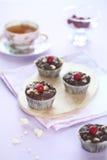 Chocolademuffins Stock Foto's