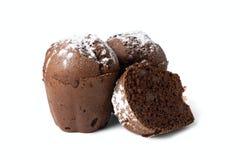 Chocolademuffins met rozijnen Royalty-vrije Stock Foto