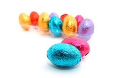 Chocoladepaaseieren Stock Afbeelding