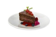 Chocoladepastei met frambozenjam Stock Foto's