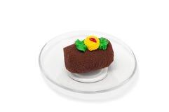 Chocoladepastei op plaat Stock Foto's