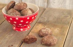 Chocoladepeperkoeken Royalty-vrije Stock Foto's