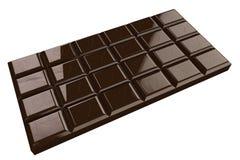 Chocoladereep met hart op witte achtergrond wordt geïsoleerd die Royalty-vrije Stock Foto