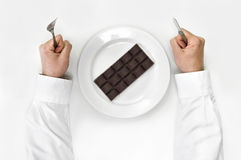 Het dieet van de chocolade. Royalty-vrije Stock Fotografie