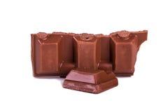 Chocoladereepstukken royalty-vrije stock foto