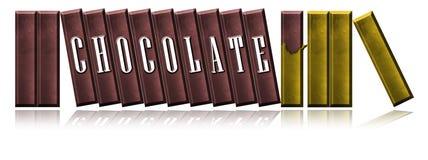 Chocoladerepen. Stock Foto