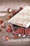 Chocoladerepen stock afbeelding