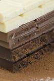 Chocoladerepen Stock Foto's