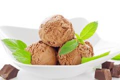 Chocoladeroomijs Stock Foto