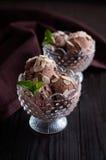 Chocoladeroomijs royalty-vrije stock afbeelding