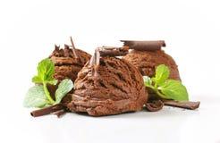 Chocoladeroomijs stock fotografie