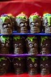 Chocoladeschedels Stock Afbeeldingen