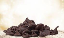 Chocoladeschilfer royalty-vrije stock foto's