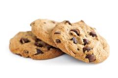 Chocoladeschilferkoekjes Stock Foto