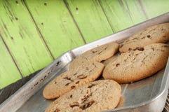 Chocoladeschilferkoekjes homemaid, gebakken stock afbeelding
