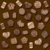 Chocoladeschilferkoekjes, naadloos patroon, kleur Royalty-vrije Stock Afbeeldingen