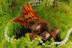 Chocoladeschilfers Stock Afbeelding