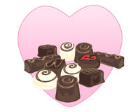 Chocoladeselectie Stock Foto
