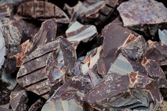 Chocoladestukken Royalty-vrije Stock Foto