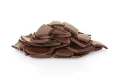 Chocoladestukken en spaanders Royalty-vrije Stock Foto
