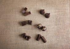 Chocoladesuikergoed royalty-vrije stock fotografie