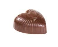 Chocoladesuikergoed op witte achtergrond wordt geïsoleerd die Royalty-vrije Stock Afbeeldingen