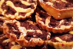 Chocoladetaartjes Stock Fotografie